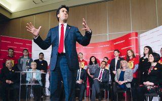 Ο ηγέτης των Εργατικών, Ντέιβιντ Μίλιμπαντ, συμμετείχε χθες στην εκστρατεία του «Οχι» στη Σκωτία.