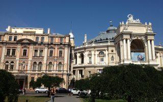 Το Εθνικό Θέατρο της Οδησσού, όπου ανέβηκε η παράσταση της Σοφίας Σπυράτου με αφορμή τα 200 χρόνια από την Ιδρυση της Φιλικής Εταιρείας.