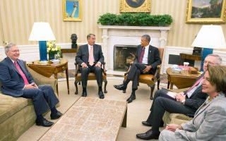 Με την ηγεσία της νομοθετικής εξουσίας συναντήθηκε την Τρίτη ο Μπαράκ Ομπάμα στον Λευκό Οίκο.