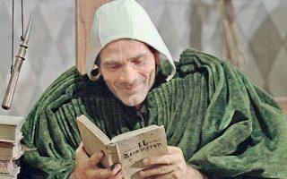 Ο Πιερ Πάολο Παζολίνι ως Τζέφρυ Τσώσερ στην ταινία «Οι θρύλοι του Καντέρμπουρυ» (1972), που σκηνοθέτησε ο ίδιος και αποτελεί κινηματογραφική μεταφορά του βιβλίου.