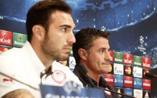 Ρομπέρτο και Μίτσελ εμφανίστηκαν αισιόδοξοι για το αποψινό ματς κόντρα στην Ατλέτικο Μαδρίτης.