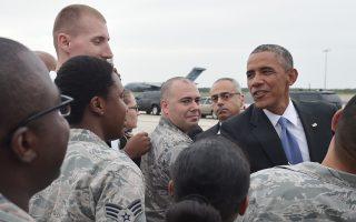 Στην αεροπορική βάση Μακντίλ της Φλόριντα βρέθηκε την Τρίτη ο πρόεδρος Ομπάμα.