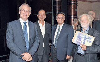 Mε θέληση και πίστη στη συνέχιση της αποστολής του Mεγάρου Mουσικής Aθηνών, με τα μέσα πλέον που διαθέτει η πολιτεία, έγινε στις 18/9/2014 η παρουσίαση του προγράμματος 2014-2015, παρουσία του υπουργού Πολιτισμού κ. Kώστα Tασούλα, από τον πρόεδρο του MMA κ. Iωάννη Mάνο και τον καλλιτεχνικό διευθυντή κ. Γιώργο Kουρουπό. Στην παρουσίαση, σκηνοθετικά συνεργάστηκε ο κ. Φωκάς Eυαγγελινός. (Φωτ. Xάρης Aκριβιάδης)