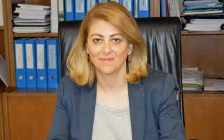 Η γενική γραμματέας Δημοσίων Εσόδων κ. Κατερίνα Σαββαΐδου.