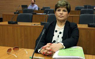 Η Διοικητής της Κεντρικής Τράπεζας Κύπρου, Χρυστάλλας Γιωρκάτζη.