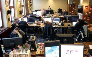 Τα γραφεία της σουηδικής εταιρείας Mojang, η οποία έχει λανσάρει το δημοφιλές ψηφιακό παιχνίδι Minecraft.