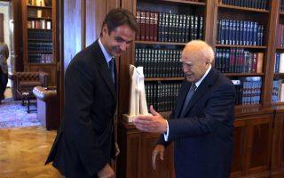 Ο κ. Κυρ. Μητσοτάκης ενημέρωσε λεπτομερώς τον Πρόεδρο της Δημοκρατίας, κατά τη χθεσινή τους συνάντηση, για την προσπάθεια αναδιάρθρωσης του Δημοσίου.