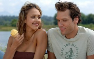 Jessica Alba, Dane Cook and Dan Fogler in scenes from their upcoming film Good Luck Chuck.<P><noscript><img width=