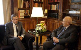 Η Σύνοδος Κορυφής του ΝΑΤΟ, η πορεία του Κυπριακού και η συνάντηση με τον Ερντογάν βρέθηκαν στο επίκεντρο της συνάντησης του πρωθυπουργού με τον κ. Κάρολο Παπούλια.