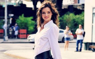 Miranda Kerr on a photoshoot in the Meatpacking District, NYC
