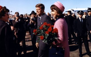 EXCLUSIVE: President John F Kennedy and wife Jackie Kennedy pictured arriving at Love Field, Dallas, Texas, on November 22, 1963