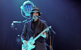 Jack White performs at the 2012 Voodoo Experience music festival in New Orleans, Louisiana.