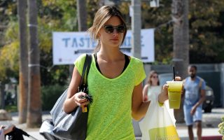 Alessandra Ambrosio stays fit with pilates in LA