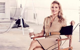 Kate Hudson brings her sons along for Ann Taylor ad campaign