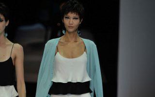 Emporio Armani fashion show Milan FW 14 15. <P><noscript><img width=
