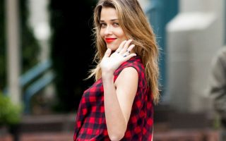 Brazilian model Ana Beatriz Barros is seen during a photoshoot in New York