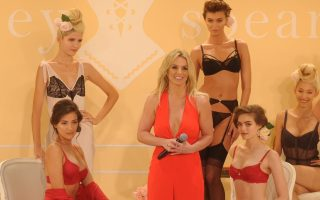 Britney Spears speaks onstage at the exclusive unveiling of The Intimate Britney Spears at New York Public Library - Celeste Bartos Forum on September 9, 2014 in New York City.<P><noscript><img width=