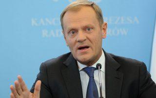Ο νέος πρόεδρος του Ευρωπαϊκού Συμβουλίου Ντόναλντ Τουσκ.