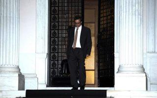 Ο κ. Γκ. Χαρδούβελης εξερχόμενος του Μεγάρου Μαξίμου, μετά τη χθεσινή συνάντηση με τον πρωθυπουργό (Menelaos Myrillas / SOOC ).