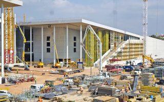 Σε λίγο καιρό το κτίριο της Λυρικής και της Βιβλιοθήκης θα αρχίσει να αποκτά την τελική του μορφή.