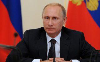 Ο Ρώσος πρόεδρος Βλαντιμίρ Πούτιν, χθες.