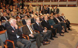 Το σύνολο του «δημοκρατικού τόξου» της Ελλάδας έδωσε χθες το «παρών», αποτίοντας φόρο τιμής στον Π. Μπακογιάννη, στο αμφιθέατρο του ΥΠΕΞ «Γιάννος Κρανιδιώτης».