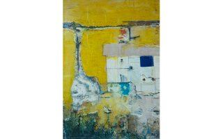 Eνα από τα έργα της Λίλας Παπούλα από την έκθεση «Ο,τι απέμεινε» (Αίθουσα Τέχνης Σκουφά, έως 10/11).