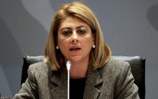 Η γενική γραμματέας Δημοσίων Εσόδων, Κατερίνα Σαββαΐδου.