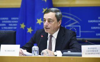 «Εχουμε τις πρώτες ενδείξεις ότι το πακέτο χαλάρωσης έχει αρχίσει να αποδίδει», τόνισε ο κεντρικός τραπεζίτης της Ευρωζώνης, Μάριο Ντράγκι.
