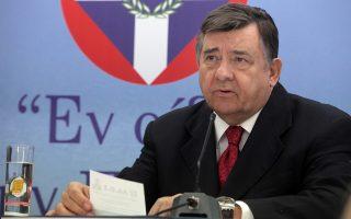 Ο πρόεδρος του ΛΑΟΣ, Γ. Καρατζαφέρης