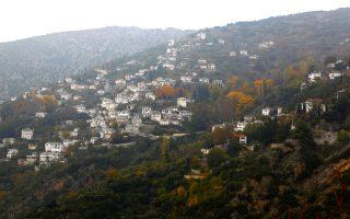 Αποψη του χωριού όπως ερχόμαστε από την Πορταριά. (Φωτογραφία: Κατερίνα Καμπίτη)