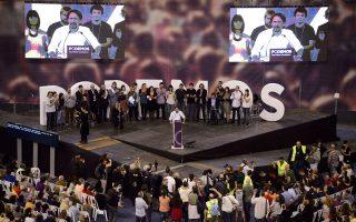Η αποκάλυψη πολιτικών σκανδάλων και μια γενικευμένη αίσθηση αποξένωσης των ευρωπαϊκών ελίτ από τους πολίτες στρέφει προς κόμματα αντισυστημικά, όπως το ισπανικό Podemos (φωτ.), ή ευρωφοβικά, όπως το βρετανικό Ukip.