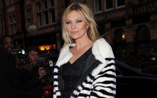 Kate Moss arrives at  Marc Jacobs in Mount Street, London, for the launch of her front cover of Playboy