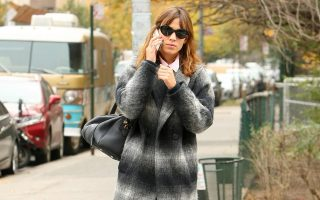 Alexa Chung spotted on her birthday