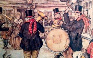 «Οι μουσικοί των Χριστουγέννων», του Anton Pieck.