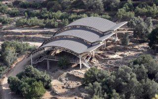 O αρχαιολογικός χώρος στην Αρχαία Ελεύθερνα της Κρήτης.