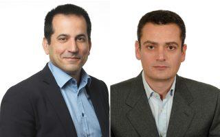 Αριστερά, ο κ. Σπύρος Πέγκας. Δεξιά, ο κ. Ηλίας Αθανασόπουλος.