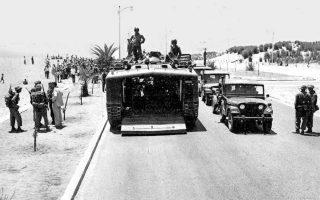 Αμερικανικές δυνάμεις μπαίνουν στη Βηρυτό. Η επέμβαση των ΗΠΑ στον Λίβανο κατέδειξε την αποφασιστικότητά τους να προστατεύσουν τα φιλοδυτικά καθεστώτα και να αντιμετωπίσουν τον αραβικό εθνικισμό και τη σοβιετική διείσδυση στη Μέση Ανατολή.