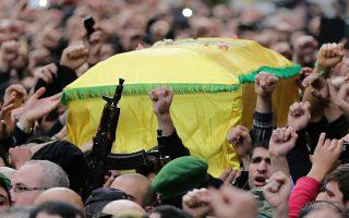 Η συναισθηματικά φορτισμένη κηδεία του Τζιχάντ Μουγνίγια στη Βηρυτό.
