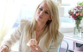 Jaimie Hilfiger eats cupcakes in Los Angeles, CA