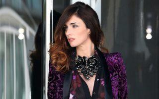 Spanish actress Paz Vega at a photoshoot on Roberto Cavalli's yacht