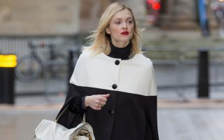 Fearne Cotton arrives at Radio 1 in London, England