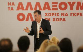 """«Ζητάμε από τον ΣΥΡΙΖΑ να πει αυτή τη στιγμή στην κοινωνία ότι """"δεν ψηφίσαμε τον Στ. Δήμα γιατί θέλουμε να πάμε σε αυτή την επιλογή""""» ανέφερε στη διακαναλική συνέντευξη του «Ποταμιού» ο κ. Στ. Θεοδωράκης."""