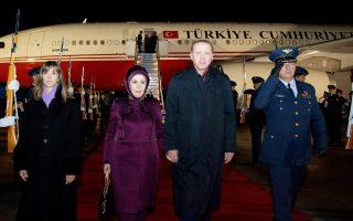 Ο Τούρκος πρόεδρος Ταγίπ Ερντογάν με τη σύζυγό του.