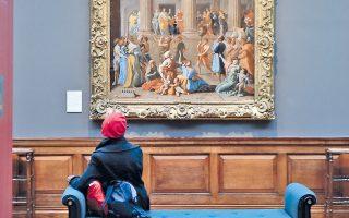 «Ο θρίαμβος του Δαβίδ», έργο του Νικολά Πουσέν στην Dulwich Gallery στο Λονδίνο (AFP/Ben Stansall). Τηλεφοσ