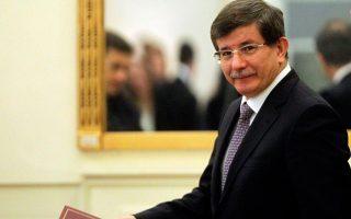 Ο Τούρκος πρωθυπουργός Αχμέτ Νταβούτογλου.
