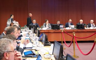 Ο υπουργός Οικονομικών Γιάνης Βαρουφάκης εισέρχεται στη χθεσινή συνεδρίαση του Eurogroup στις Βρυξέλλες.