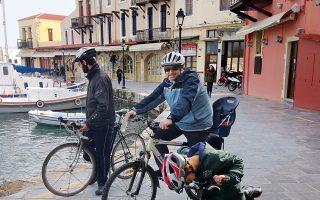 Ποδηλατάδα στο παλιό λιμάνι. (Φωτογραφία: Κυριακή Βασσάλου)