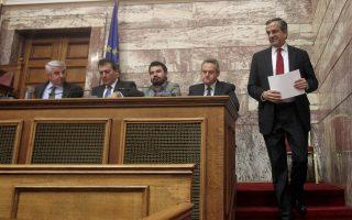 Ο τέως πρωθυπουργός Αντ. Σαμαράς, κατά την ομιλία του στην Κοινοβουλευτική Ομάδα της Ν.Δ. την περασμένη Πέμπτη, άνοιξε τα χαρτιά του έναντι της κριτικής που του ασκείται για το εκλογικό αποτέλεσμα.