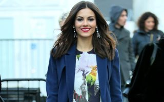 Actress Victoria Justice attends the Rebecca Minkoff fashion show at Lincoln Center on February 13, 2015 in New York City.<P><noscript><img width=